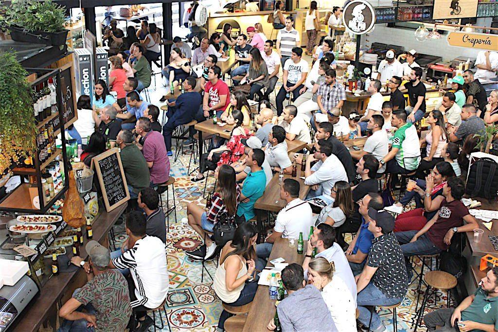 Crowd watching a game, photo courtesy of Mercado Del Rio