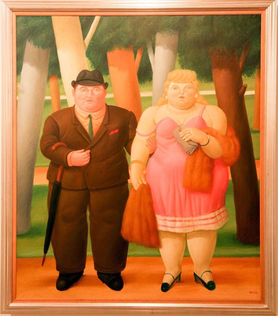 A Couple, 1999 by Fernando Botero, photo by Jenny Bojinova