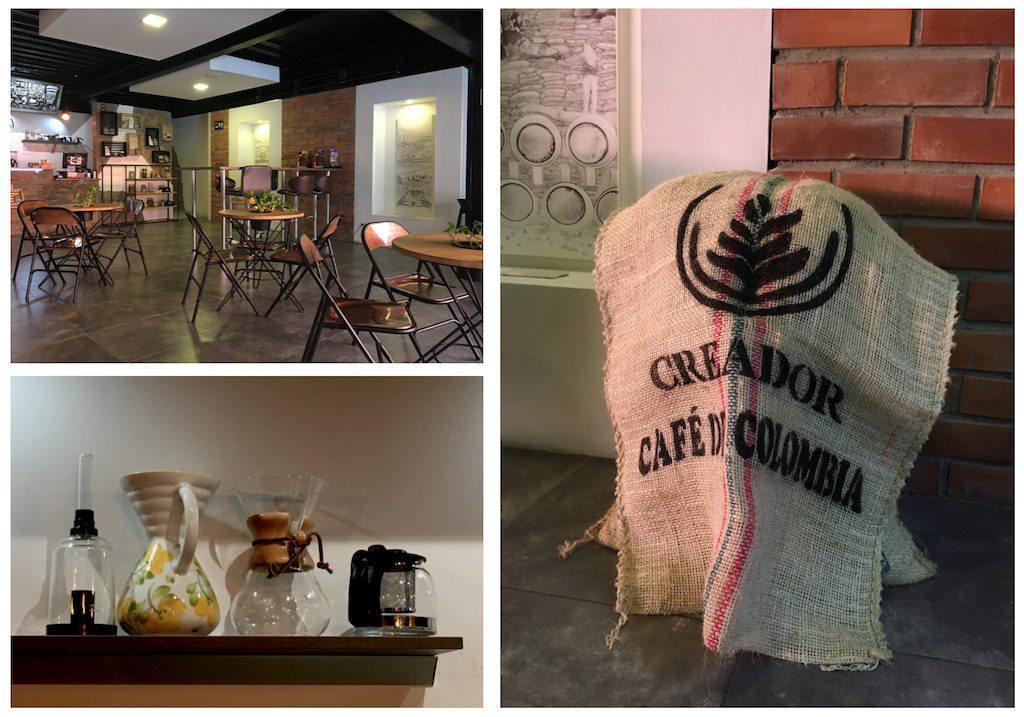 Creador: El café filtrado Tipica de Creador ofrece una experiencia de café muy antioqueña mientras se encuentra en El Poblado