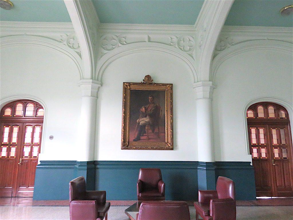 One of the hallways inside Rafael Uribe Uribe Palace of Culture