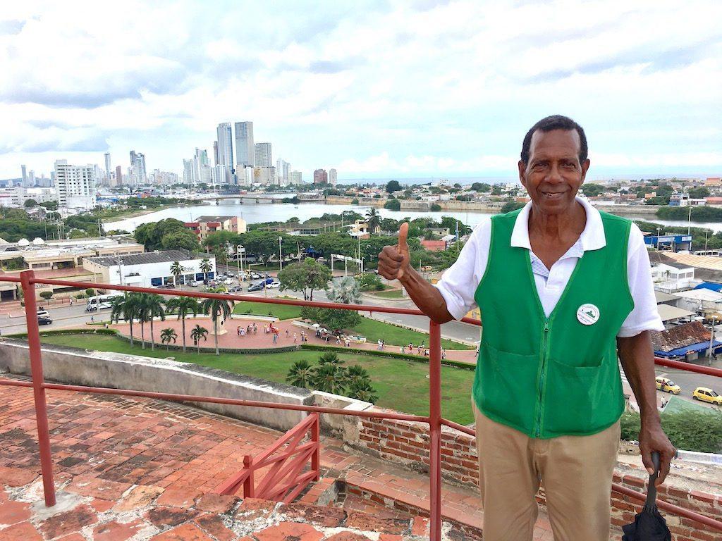 Arturo Corpus offers tours in English of the Castillo San Felipe De Barajas in Cartagena