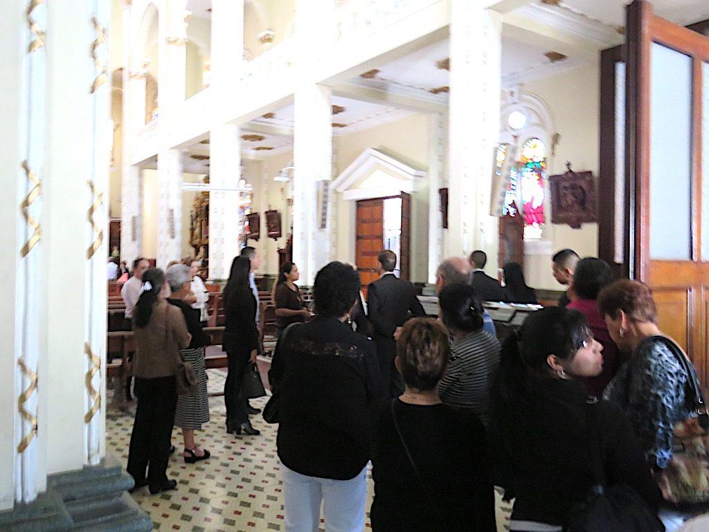 Funeral services at Iglesia Jesús Nazareno