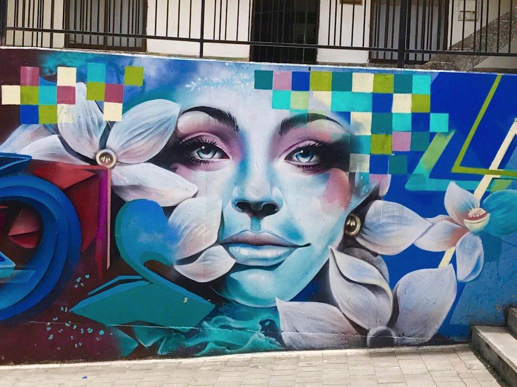 Graffiti on display in Comuna 13 seen on a Graffiti tour