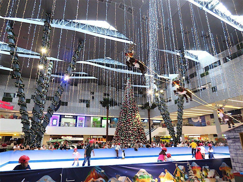 Ice skating at Mayorca mall for Christmas