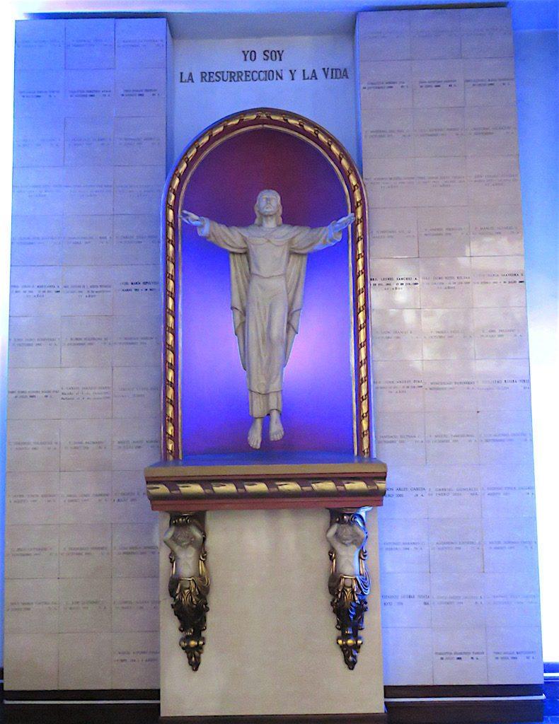 Part of the mausoleum in Iglesia de Nuestra Señora del Sufragio