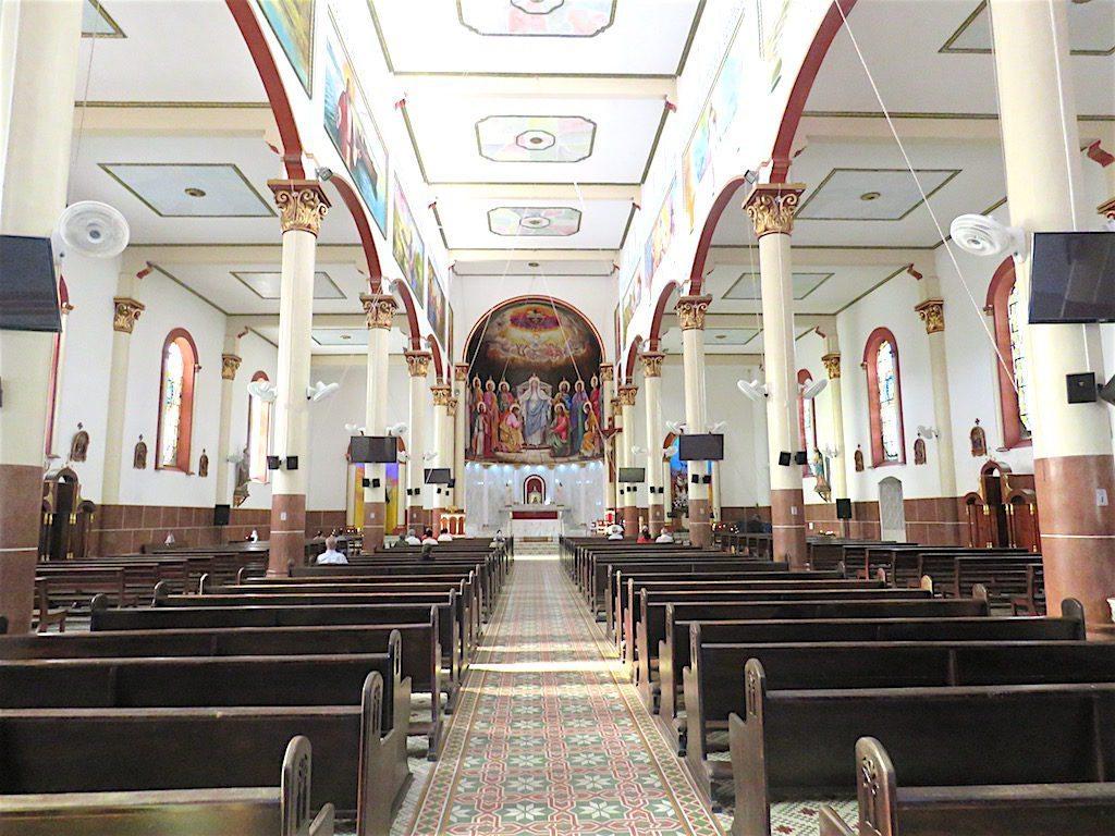 Inside Iglesia San Carlos de Borromeo