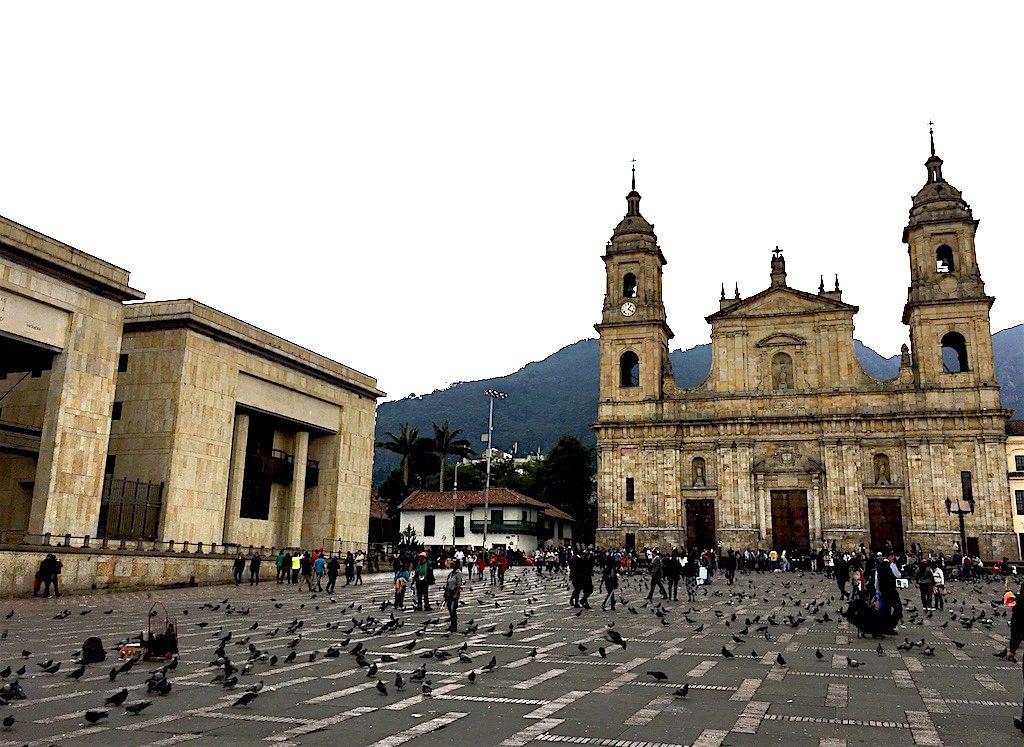 Simon Bolívar Square marks the heart of Bogotá