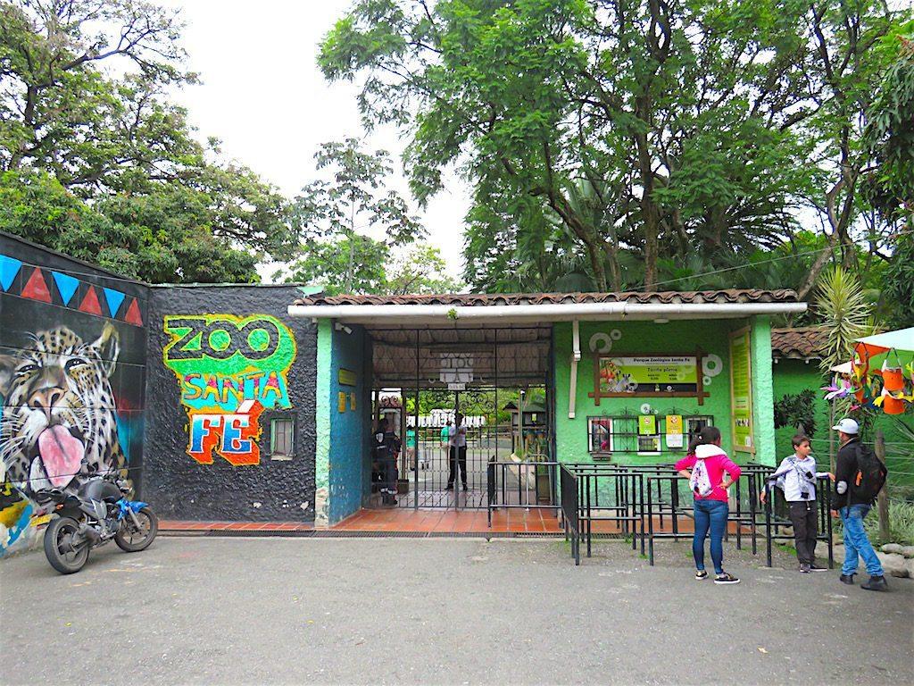 Entrance to Parque Zoológico Santa Fe