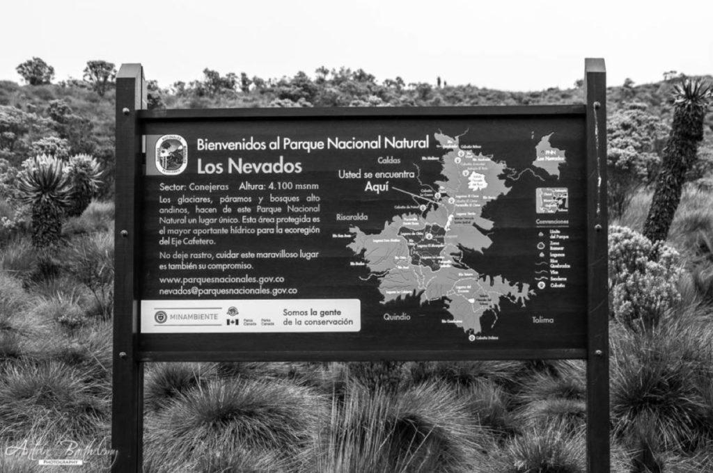 Entrance to Parque Nacional Natural Los Nevados