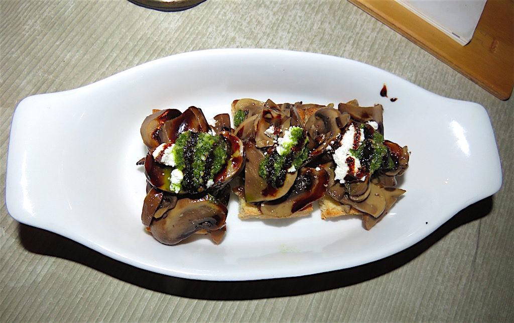Mushroom appetizer at Delaire