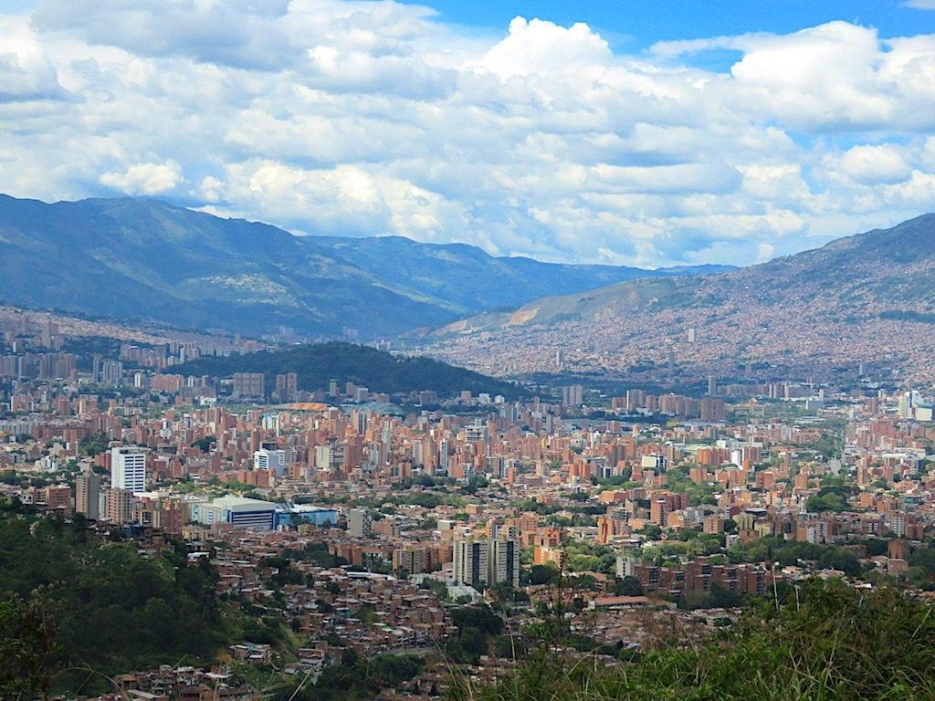 View of Medellín from Cerro de Las Tres Cruces