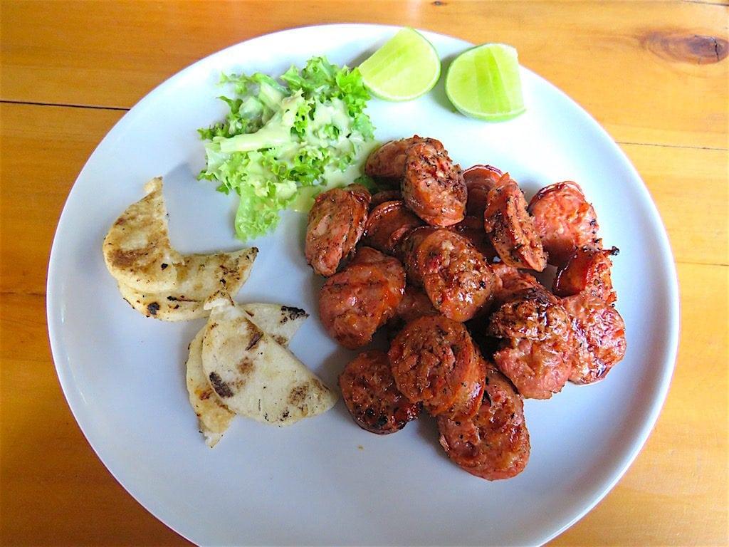 Chorizo de Cerdo appetizer