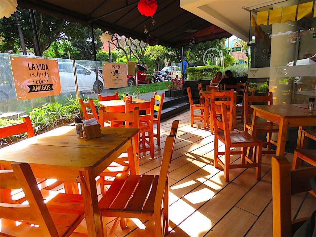 Inside Toro Restaurante
