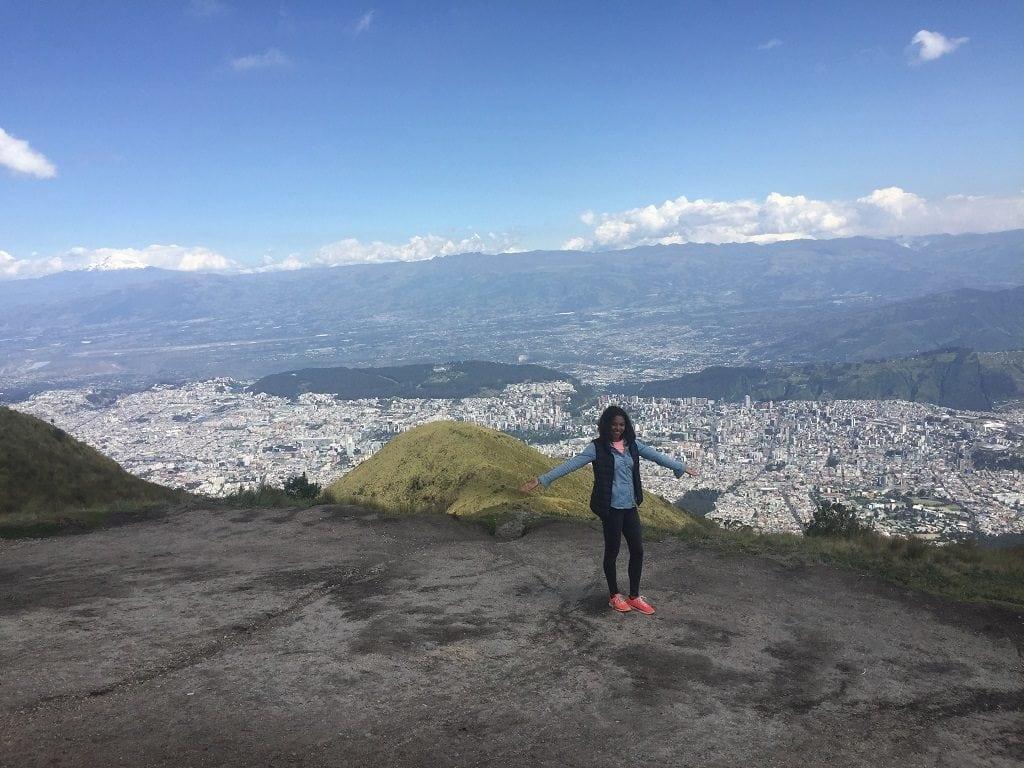 Tacha and Sam in Quito Ecuador (Sam behind the camera)