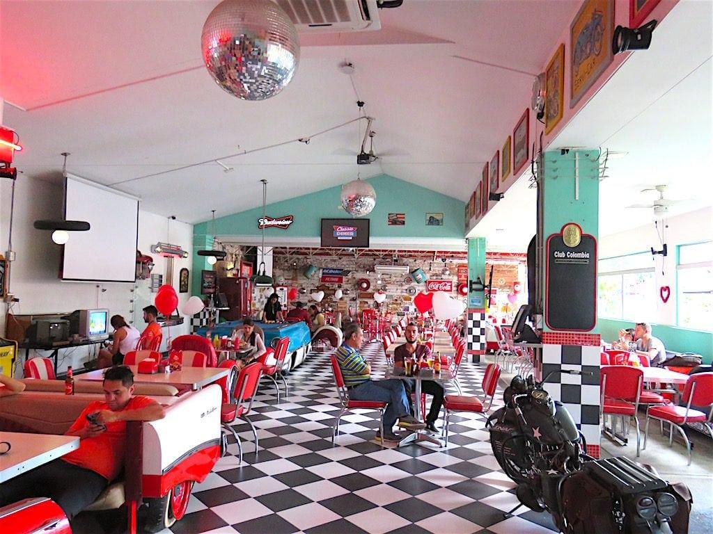 Inside Classic Diner