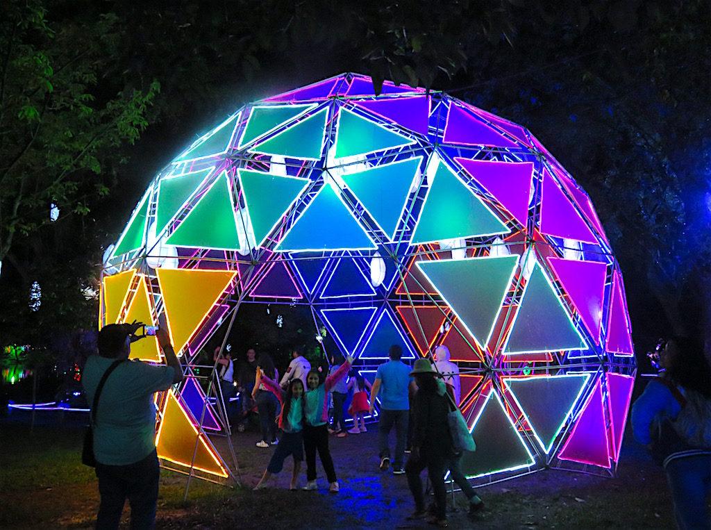 A large Christmas ball
