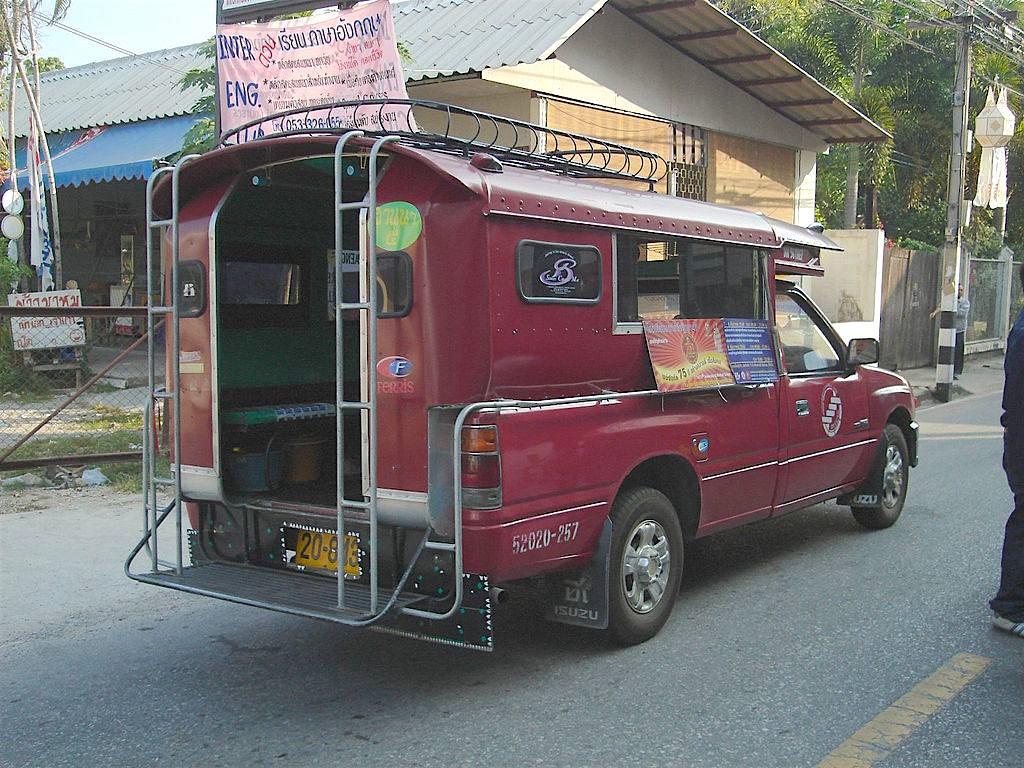 Songthaew transportation in Chianga Mai, photo by Love Krittaya