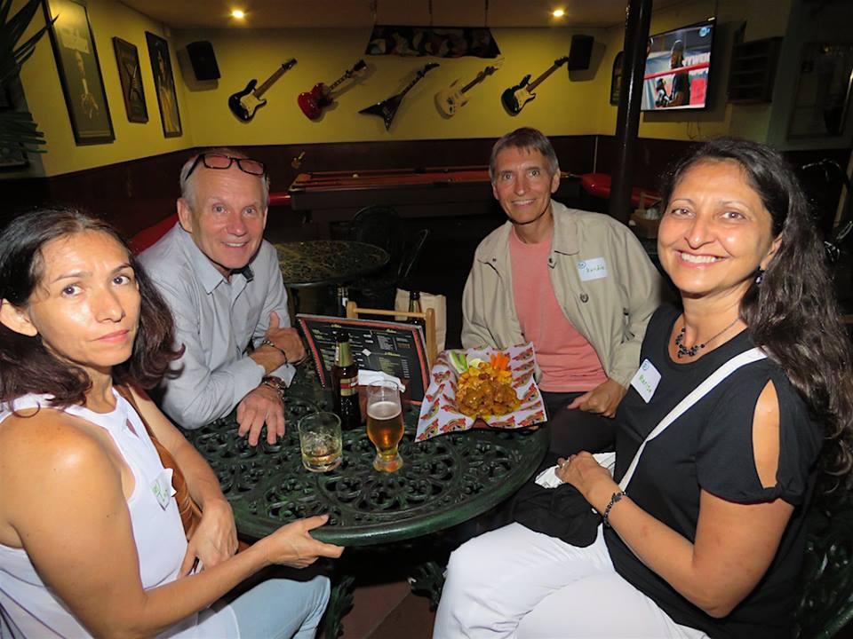 At the Medellin Guru November meetup at Medellin Beer Factory