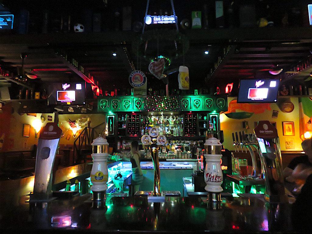 The bar at Patrick's Irish Pub
