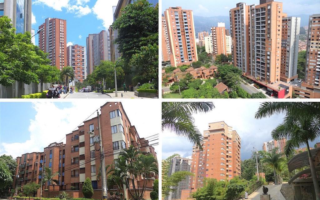 Buildings in some of the best neighborhoods in Medellín