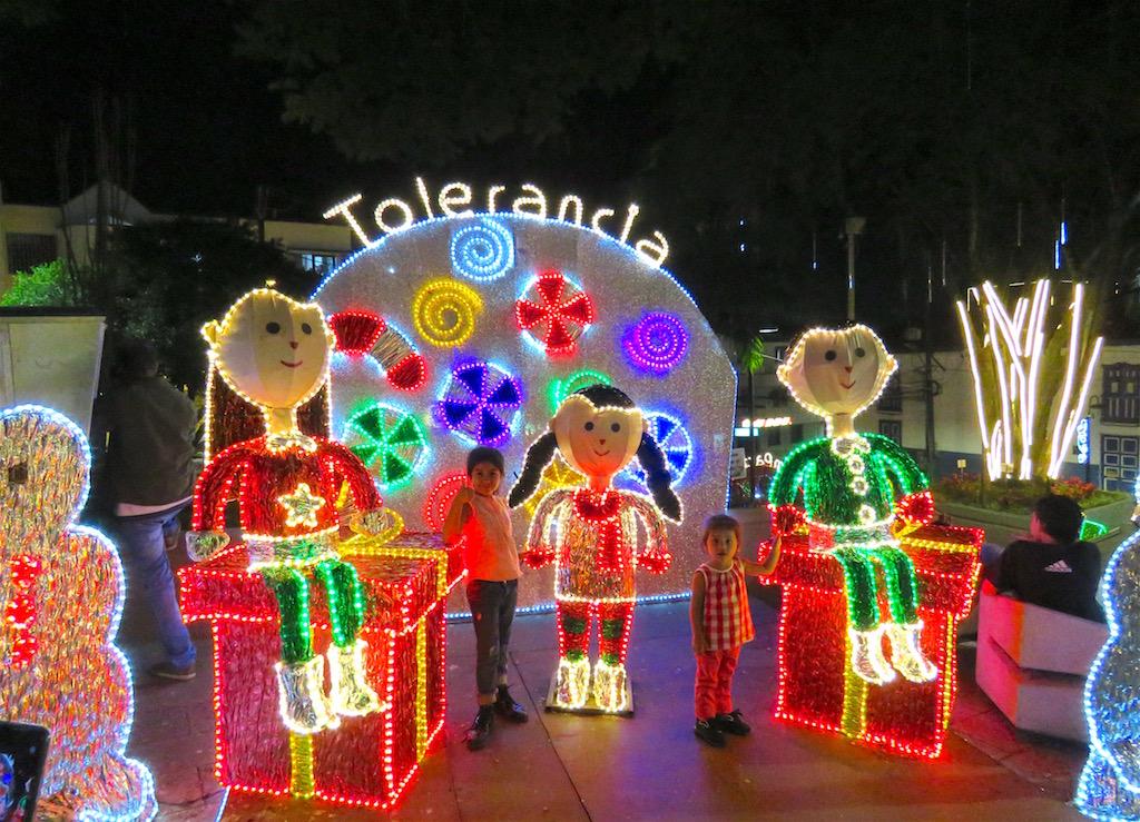 One of several Christmas lights displays in La Estrella