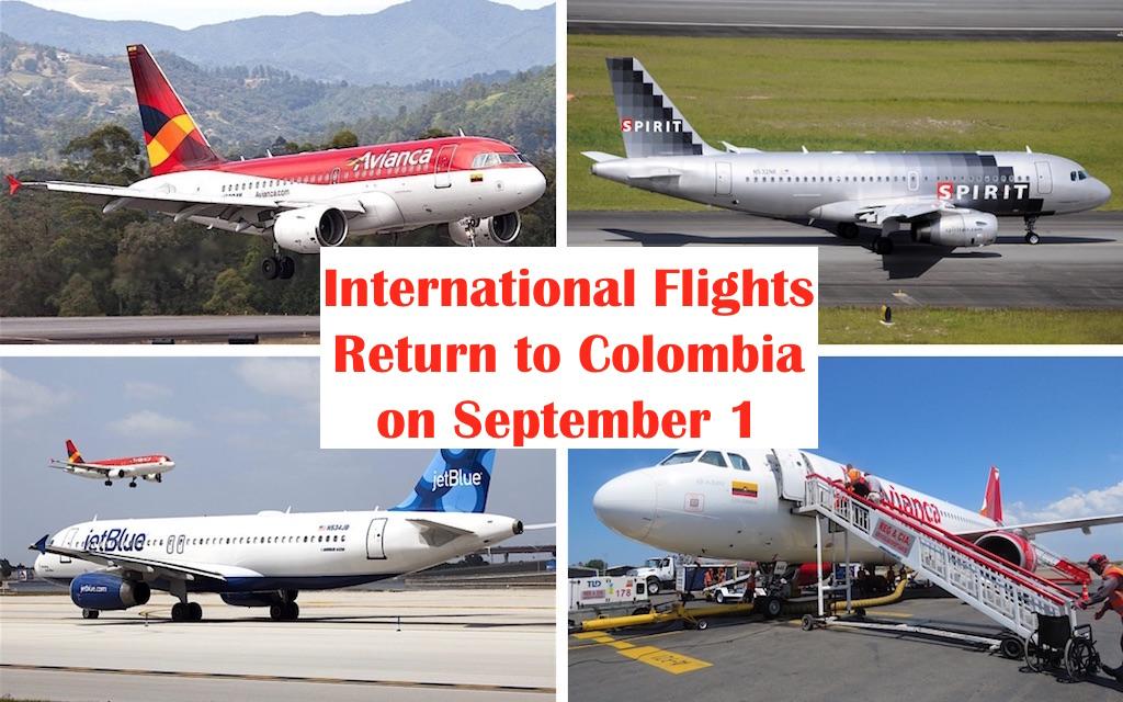 International Flights Return to Colombia Starting on September 1