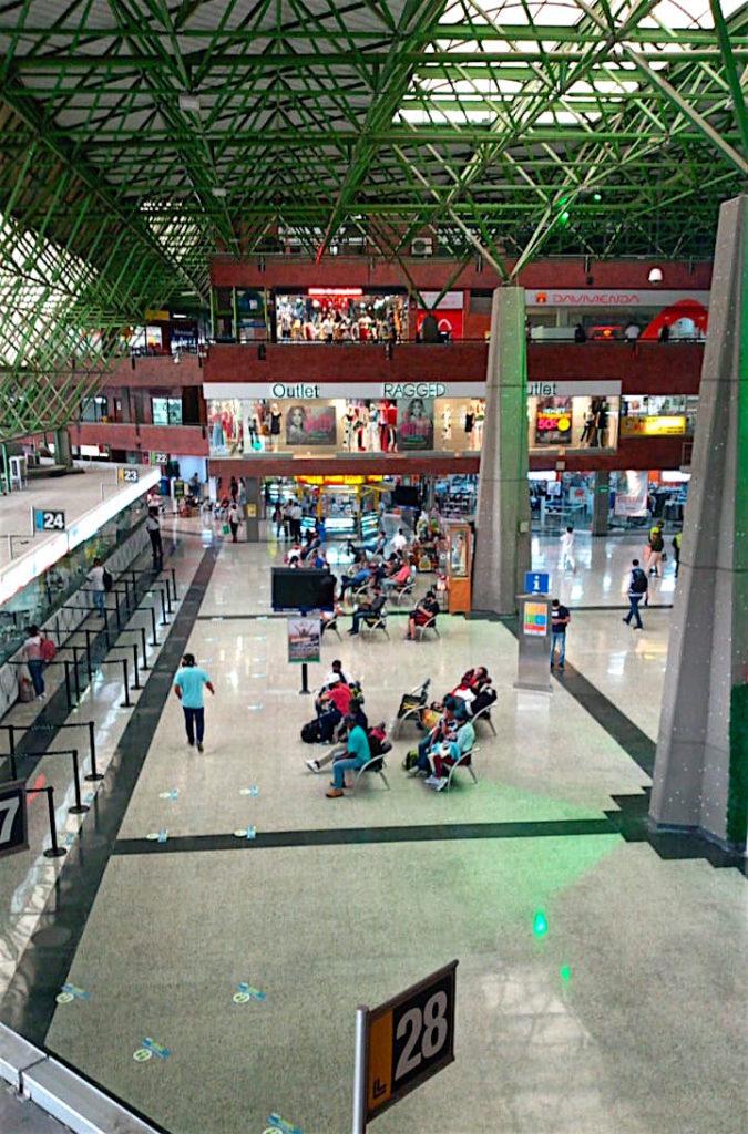 Inside the Terminal Norte bus terminal in Medellín on September 8, 2020
