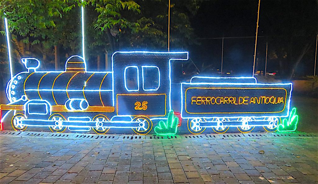Train figure in Parque Norte