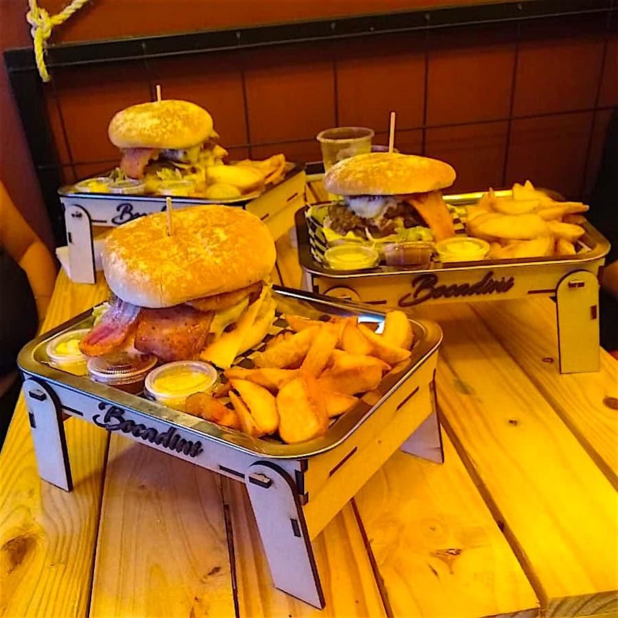 Burgers at this restaurant, photo courtesy of Bocadini