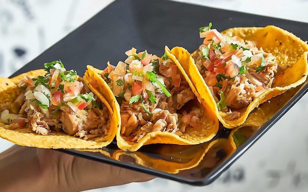Tacos dish with 3 tacos, photo courtesy of Emiliano